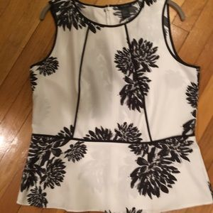 Ann Taylor Black and White Top